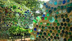 bottle walls... I am a bit keen on a bottle wall in my garden.. or a bottle wall cubby house???