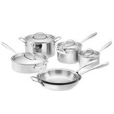A Full Set of Pots and Pans - It's time to do away with the mismatched cookware of your postcollege years and invest in a proper set of pots and pans. They not only look beautiful, but a good quality set will make cooking more enjoyable and last for years. Williams-Sonoma Signature Thermo-Clad stainless steel 10-piece cookware set, $800, williams-sonoma.com