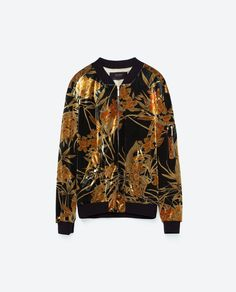 Image 8 of PRINTED BOMBER JACKET from Zara