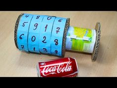 How to Make Combination Vault Using Cardboard and Trash - DIY Combinatio. Escape Box, Escape Room Diy, Escape Room For Kids, Escape The Night, Escape Room Puzzles, Geheimagenten Party, Diy For Kids, Crafts For Kids, Escape The Classroom