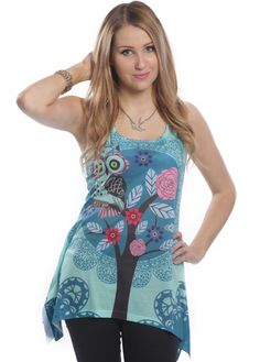 Innocent Clothing Hoot Lace Panel Vest | Attitude Clothing - NOW OWN