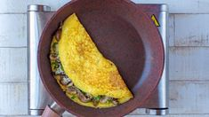 Check out this recipe! Omelette Pan, Cheese Omelette, I Chef, Stuffed Mushrooms, Stuffed Peppers, Breakfast Menu, Thing 1, Spinach And Feta, Recipe Ratings