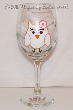 Chi omega painted wine glass from a hardworking law student!   MorgansGiftBoutique.etsy.com