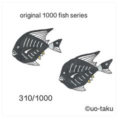 【uo_taku】さんのInstagramをピンしています。 《310/1000  以前に展示風景をご紹介しましたが、1,000枚の無地の名刺に1000種類の形も柄も違うオリジナルの魚を4色(黒、金、銀、紙の白)で描きました。 2015年11月6日より定期ですが、1日1匹を目安にご紹介していきます。どうぞお楽しみに。  i introduce the exhibition landscape previously.I drew a 1000 fish.Form also pattern and shape is  different all.all of design by original.so i used only 4colors(black.white.gold.silver) size is business card size(9cm×5cm) i will introduce one fish per day. please enjoy it. 2015.November6 start…
