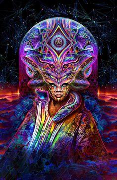 "Threyda | Art & Goods | ""Icaro Psychotria Viridis"" - Justin Totemical  #vibes #indigo #moonchild#consciousness #kundalini #spaceporn #synchronicity #alchemy #highervibes #chakra #goddess #higherself #moonphases #om #divine #thirdeye #threyda #peace #awakening #crystals #love #art #hippie #universe #cosmos #zen #psychedelic #goodvibes #magic #denver #colorado #trippy #painting #sculpture #digitalart #visionaryart #justintotemical #threyda"