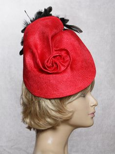 Kate Parasisal Hat Fascinator with feathers by LuminataCo