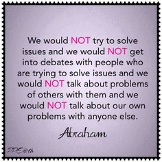 Problems, challenge - Abraham Hicks