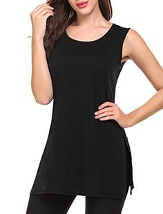 074954e067e1 BISHUIGE Women Summer Casual T Shirt Dresses Beach Cover up Plain Pleated  Tank Dress