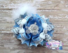 Over the Top Stacked Hair Bow Cinderella por ThruLookingGlassBow, $20.00