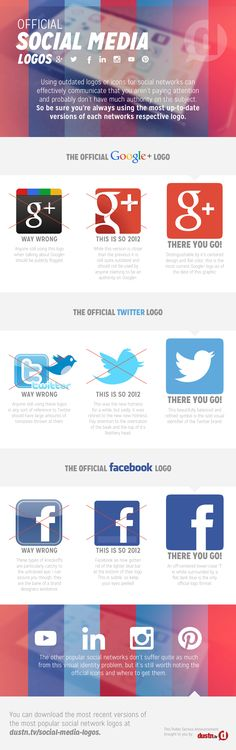 Official Social Media Logos [Infographic] - because you don't want to look outdated when sharing social media visuals!
