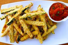 Healthy Super Bowl snack: baked zucchini fries by ireallylikefood