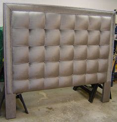 Upholstered Fabric Headboard - Photo ID Bed Headboard Design, Custom Headboard, Bedroom Bed Design, Headboards For Beds, Modern Bedroom, Bedroom Decor, King Headboard, My Furniture, Furniture Makeover