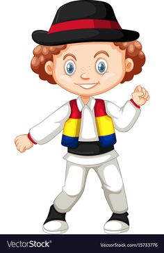 Little boy from romania vector image on VectorStock Cute Baby Dolls, Cute Babies, Preschool Crafts, Crafts For Kids, Happy Art, Doll Crafts, Spring Crafts, Romania, Paper Dolls