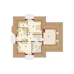 DOM.PL™ - Projekt domu DA Dandys 1 G2 CE - DOM DS2-30 - gotowy koszt budowy 30th, House Plans, Floor Plans, 1, Architecture, Case, Attic, Houses, Ideas