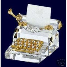 Swarovski Crystal Typewriter. I use Swarovski crystal in all my jewelry. Would to have the typewriter.