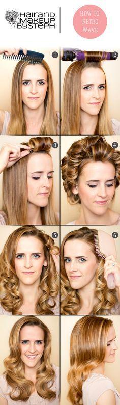How to do retro curls via