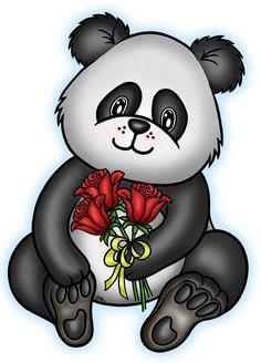 free panda digi stamp - Google Search