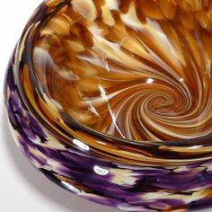 Blown Glass Art | Hand Blown Glass Art Vase Bowl. | Fused Glass Ideas
