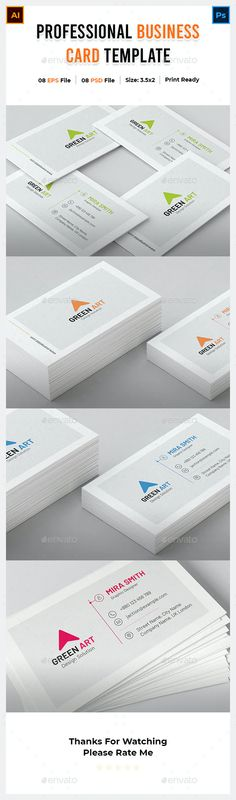 Clean Business Card by Picoartbd | GraphicRiver Cleaning Business Cards, Cool Business Cards, Print Templates, Card Templates, Name Cards, Company Names, Color Change, Green, Card Templates Printable