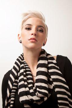 Winter-Inspired Styles by Shearious Salon #Short #Blonde || ModernSalon.com