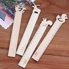 15cm Cute Kawaii Cartoon Giraffe Squirrel Wooden Ruler Lovely Bird Duck Ruler For Kids Novelty  Stationery Free Shipping 1613