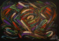 Saro-Oner                         Black Série 1 Graffiti Art, Sculpture, Oeuvre D'art, Les Oeuvres, Spiderman, Superhero, Abstract, Artwork, Painting