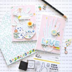 Dream On cards made with @pinkfreshstudio by @floramfarkas