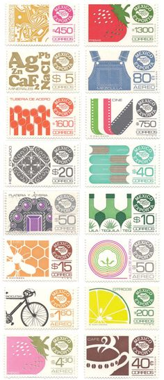 Mexican postage stamps. I've used a lot of these in jewelry but the entire collection is beautiful!