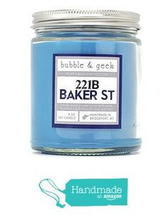 221B Baker Street Scented Soy Candle, Book Lovers Gifts from bubbleandgeek https://www.amazon.com/dp/B016C84WK2/ref=hnd_sw_r_pi_dp_35R4xbBBXQ5D4 #handmadeatamazon