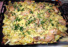 Így készül a rakott csirke burgonyával, jó sok sajttal és ínycsiklandó szósszal! - Ketkes.com