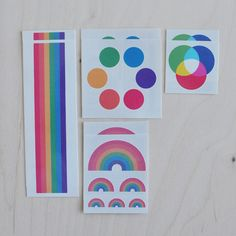 Rainbow temporary tattoos for birthday party $15 for set of 8