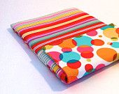 Kindle Fire, iPad Mini, Galaxy Nexus, Nook Case Sleeve in bright  Dots. $22.00, via Etsy.