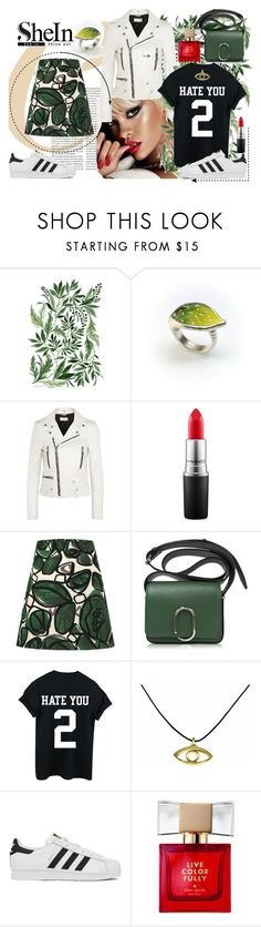 """""""Hate you 2..."""" by giampourasjewel ❤ liked on Polyvore featuring MAC Cosmetics, Yves Saint Laurent, 3.1 Phillip Lim, adidas and Kate Spade"""