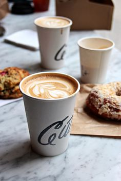 #coffee #latte and pastry. Wonderful morning combination!