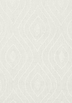BALBOA DOTS EMBROIDERY, White on White, W75702, Collection Biscayne from Thibaut