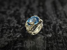 Conte, Sapphire, Silver Rings, Jewelry Design, Fairy, Unique, Engagement Rings, Etsy, Topaz