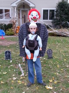 Optical Illusion Baby Snatcher Costume for a Boy