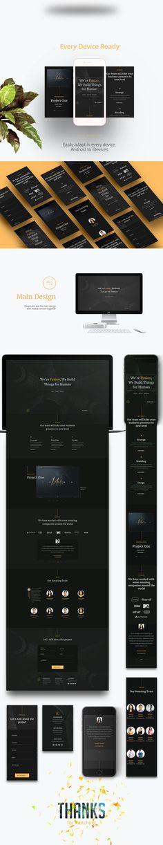 Fusion – Free Portfolio Template (HTML5) on Behance