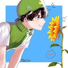 A green boy with a yellow sunflower🌻💚 Boboiboy Anime, Boboiboy Galaxy, Pokemon Comics, Yellow Sunflower, Cartoon Movies, New Friends, My Idol, Sisters, Wattpad