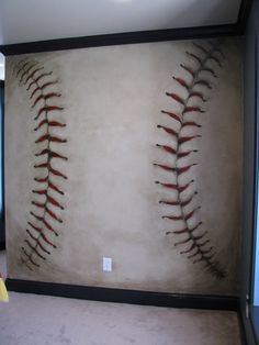 Baseball Wall This Would Be Soooooo Cool To Do By Vickiroby7