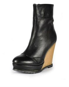 GF Ferre Leather Wedge Booties - Booties - Shoes at Viomart.com
