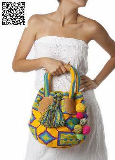 collares wayuu - Buscar con Google Crochet Quilt, Tapestry Crochet, Knit Crochet, Ankara Bags, Mochila Crochet, Tapestry Bag, Boho Bags, Crochet Purses, Clutch