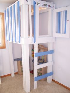 playroom loft... absolutely! Mabye even add a slide? I'm sure Don could build one that looks much sturdier than this one :)