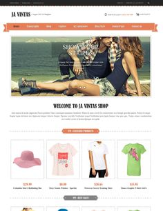 #Joomla #ecommerce template with #Virtuemart integration. From $59.