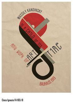 Bauhaus project by ~kiksology on deviantART Bauhaus Art, Bauhaus Design, Wassily Kandinsky, Typography Poster, Typography Design, Book Design, Layout Design, Johannes Itten, Russian Constructivism