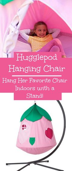 Hugglepod Hanging Chair and Stand - You can hang the Hugglepod Chair in a tree or on the porch or inside on a stand.