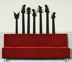 Hey, I found this really awesome Etsy listing at http://www.etsy.com/listing/128852270/guitars-silhouettes-music-decal-vinyl