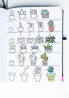 Spring Bullet Journal Doodles To Easily Copy In Your Bujo! – Sidereal Life Step-by-step plant doodle Bullet Journal Banner, Bullet Journal Lettering Ideas, Bullet Journal Notebook, Bullet Journal Ideas Pages, Bullet Journal Inspiration, Beginner Bullet Journal, Bullet Journal Numbers, Bullet Journal Decoration, Doodle Inspiration