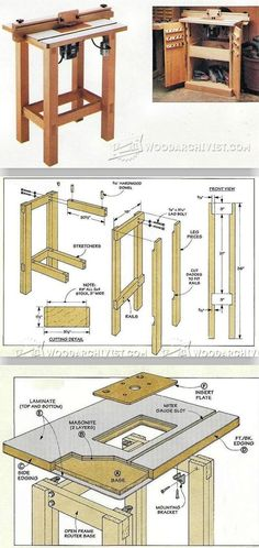 Making a Router Table - Router Tips, Jigs and Fixtures | WoodArchivist.com