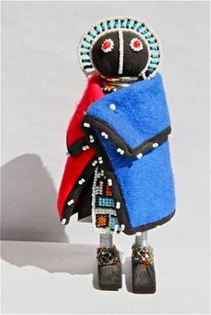 African Beaded Doll -  NDEBELE by Hadeda on Etsy